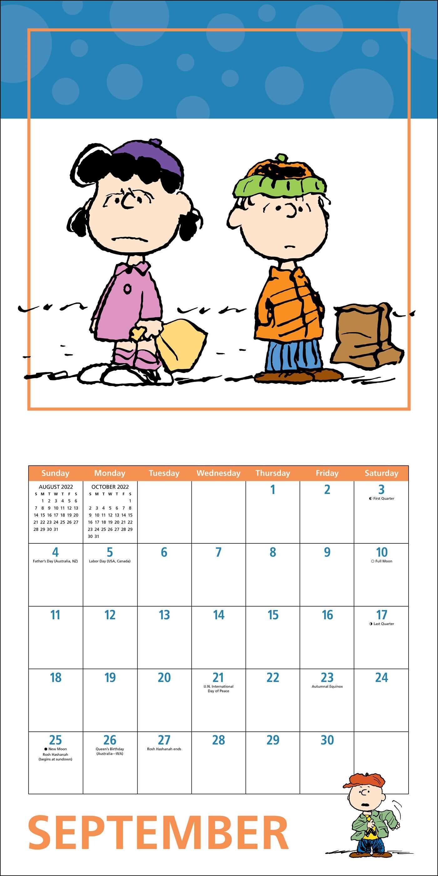Uofa Calendar 2022.Peanuts 2022 Wall Calendar Book Summary Video Official Publisher Page Simon Schuster Canada