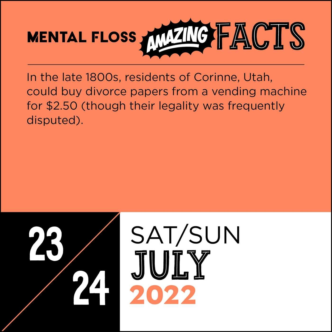 Amazing Calendar 2022.Amazing Facts From Mental Floss 2022 Day To Day Calendar Book Summary Video Official Publisher Page Simon Schuster
