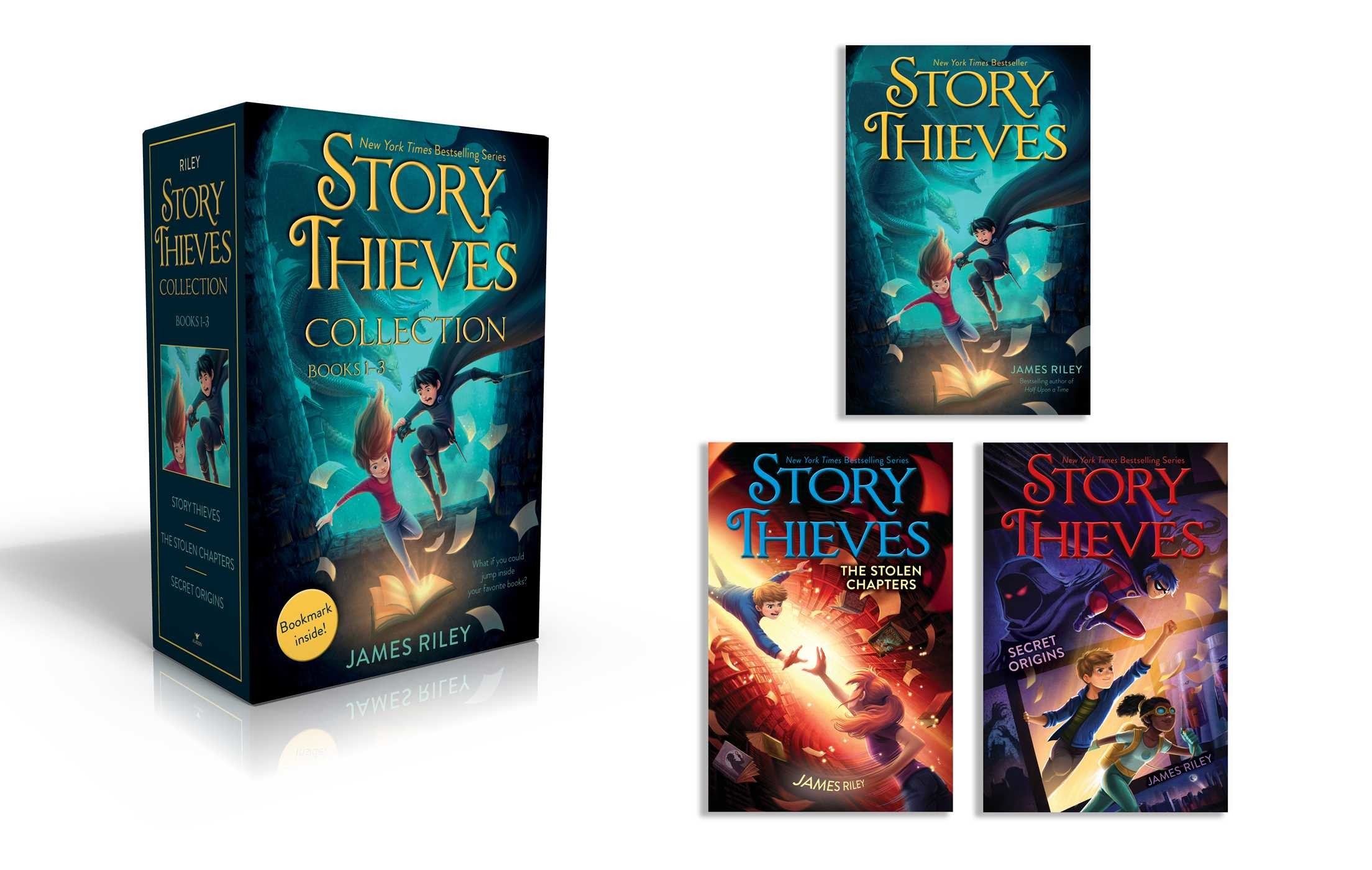 Story thieves collection books 1 3 bookmark inside 9781534414747.in01