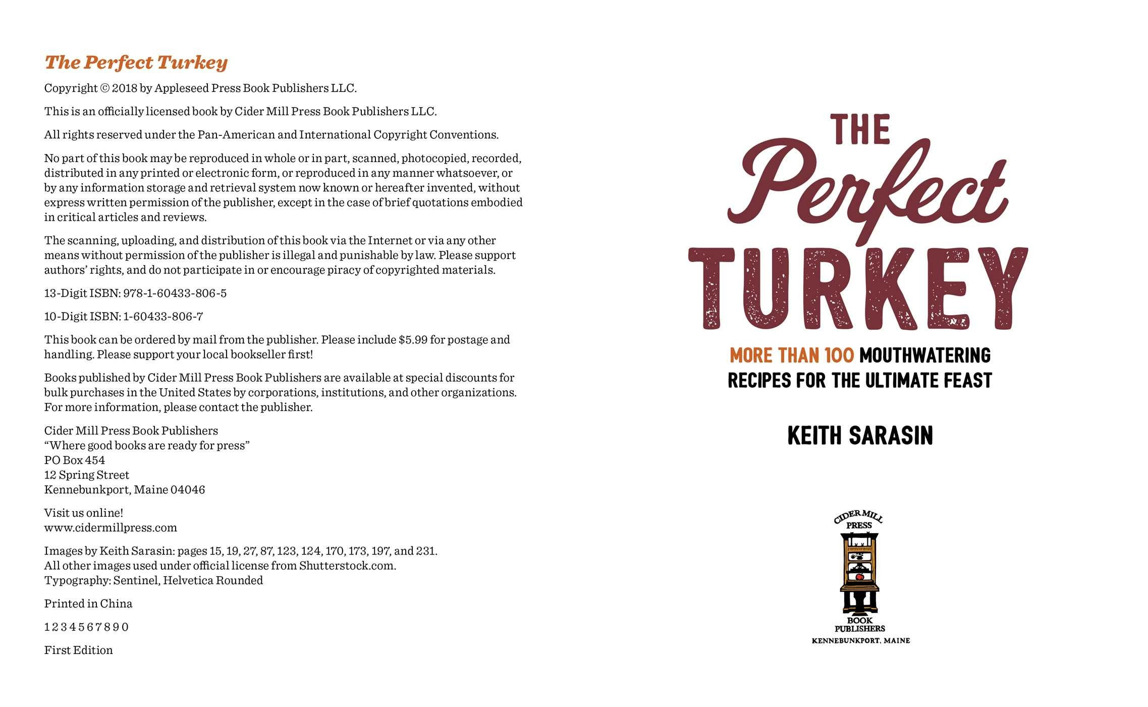 Perfect turkey cookbook 9781604338065.in01