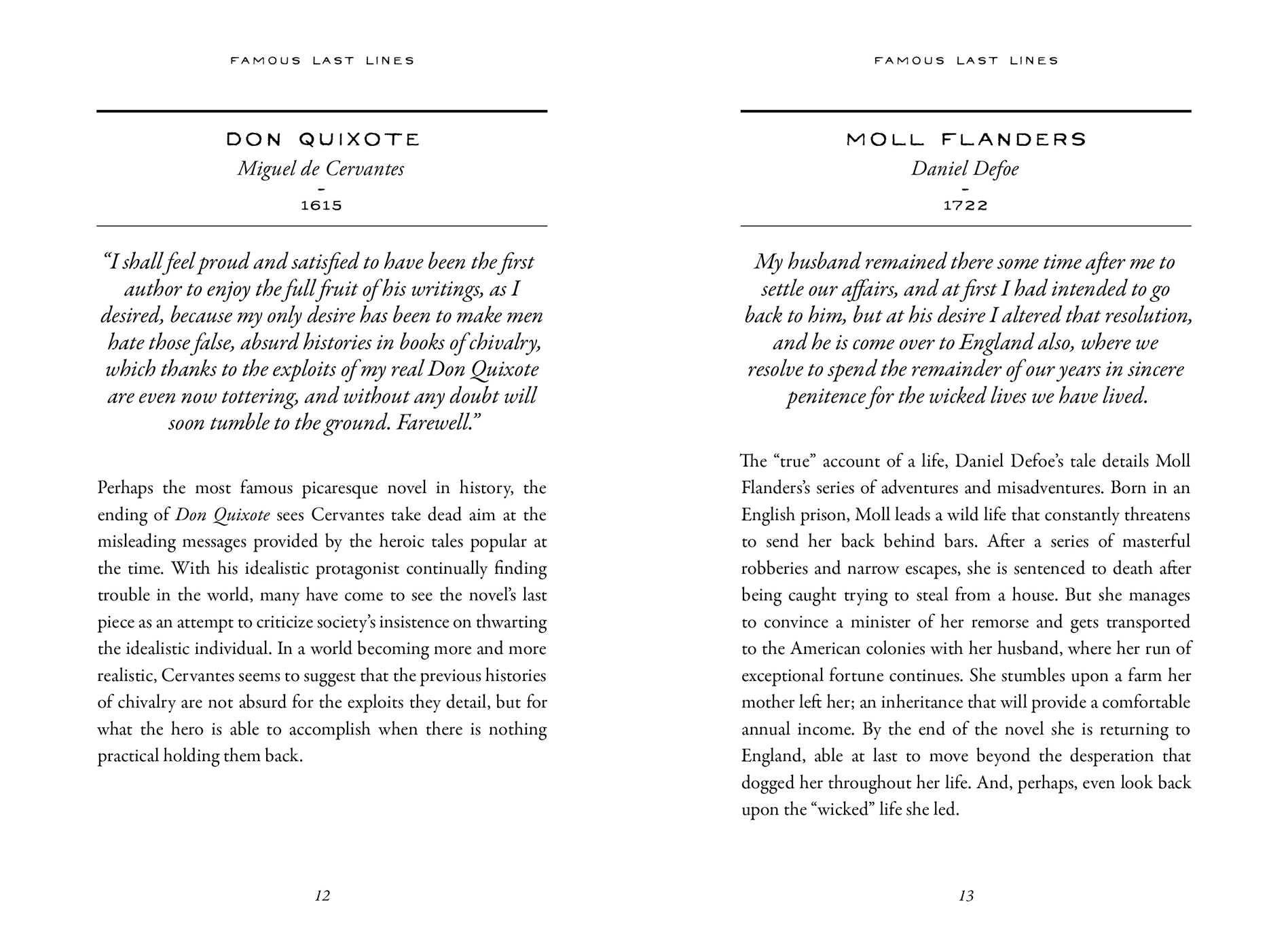 Famous Last Lines | Book by Daniel Grogan | Official