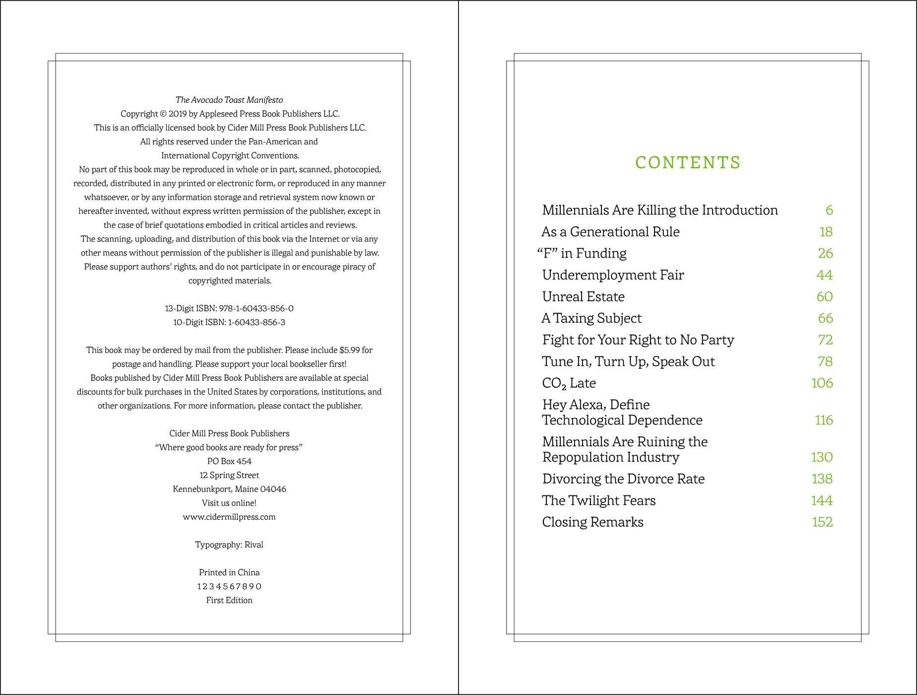 The avocado toast manifesto 9781604338560.in01