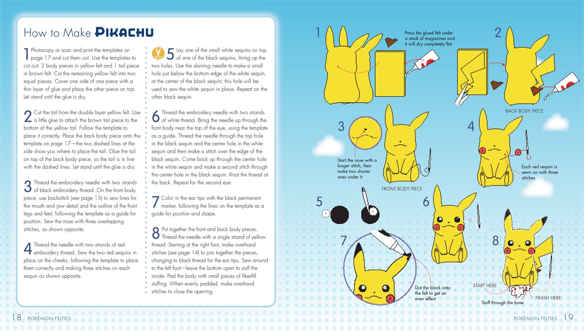 Pokemon Felties How To Make 16 Of Your Favorite Pokemon Book By