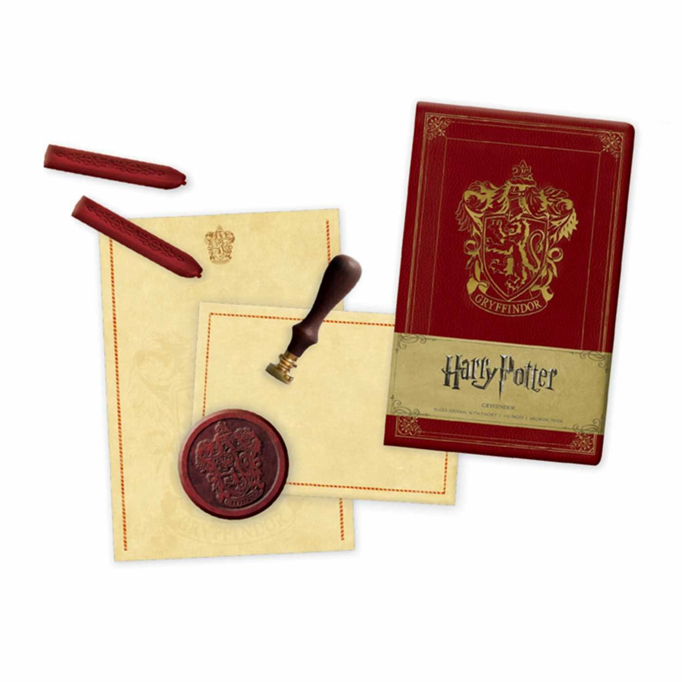 Harry Potter Book Gift Set : Harry potter gryffindor deluxe stationery set book by