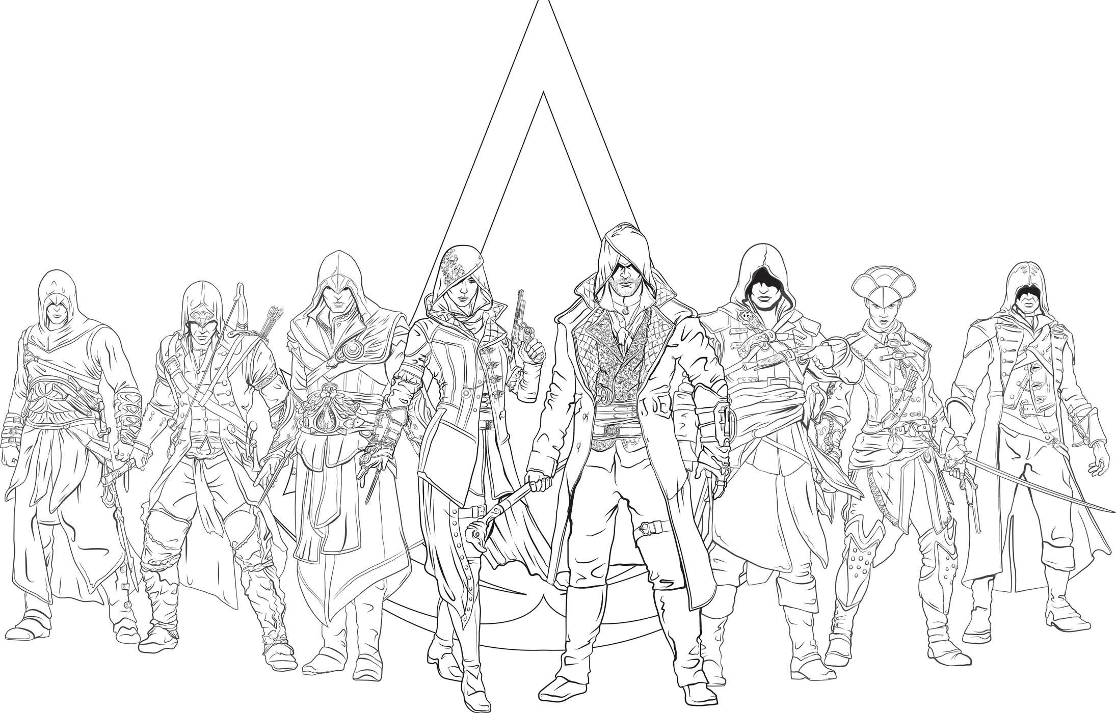 assassin creed coloring pages Assassin's Creed: The Official Coloring Book | Book by Insight  assassin creed coloring pages