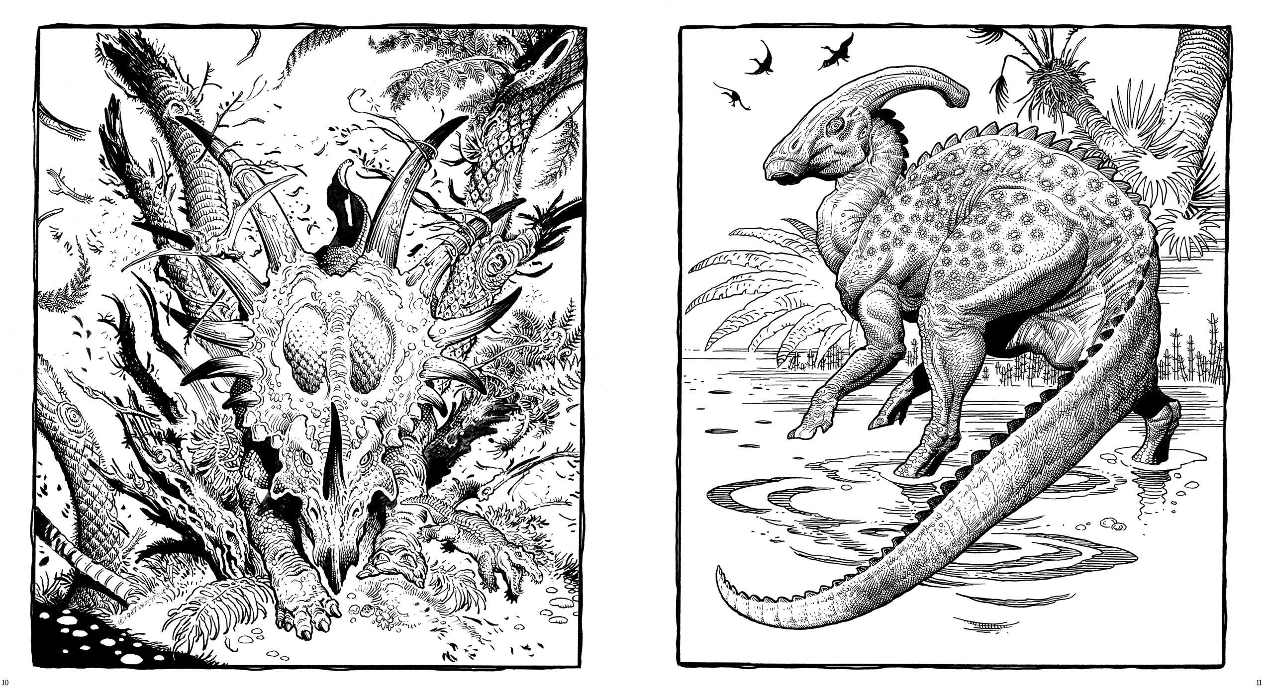 Dinosaurs: A Coloring Book by William Stout | Book by William Stout ...