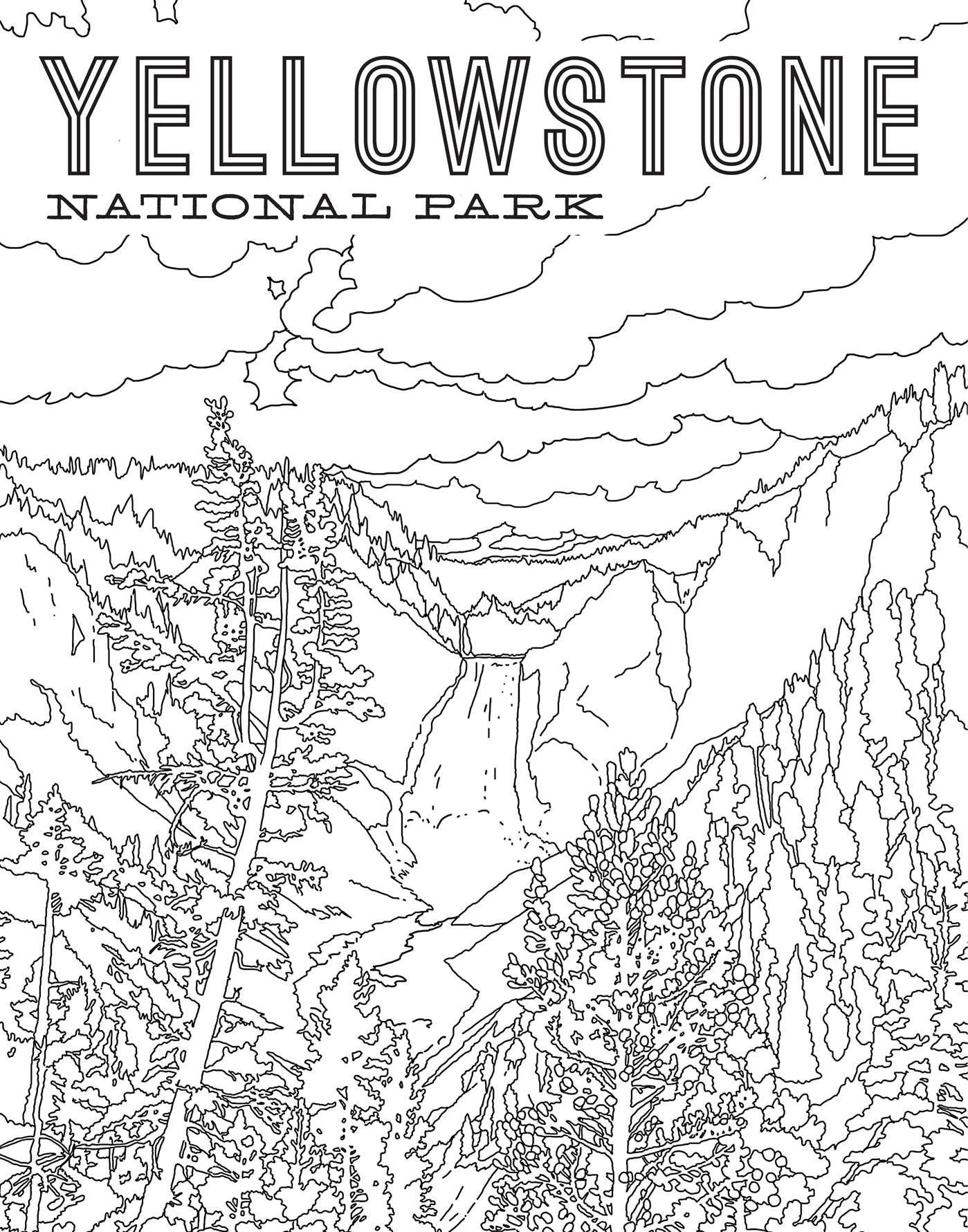 The National Parks Poster Coloring Book Book By Ian Shive Official Publisher Page Simon Schuster