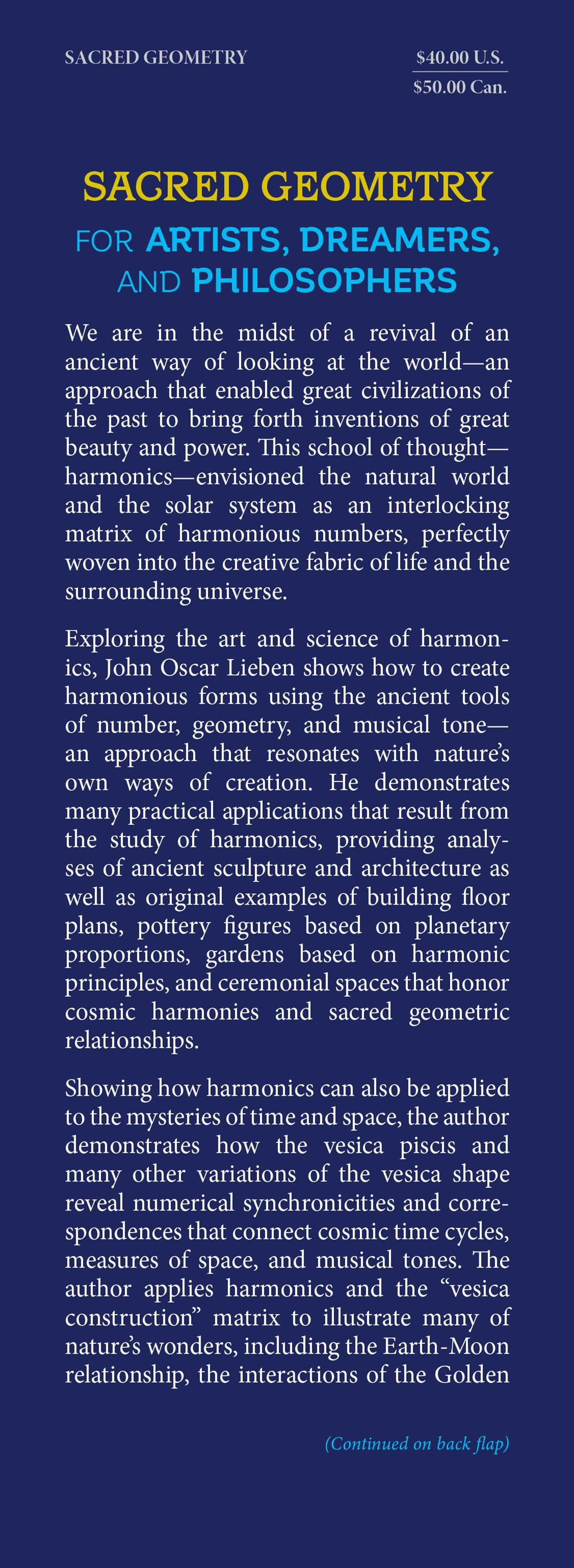 Sacred geometry for artists dreamers and philosophers 9781620557013.in01