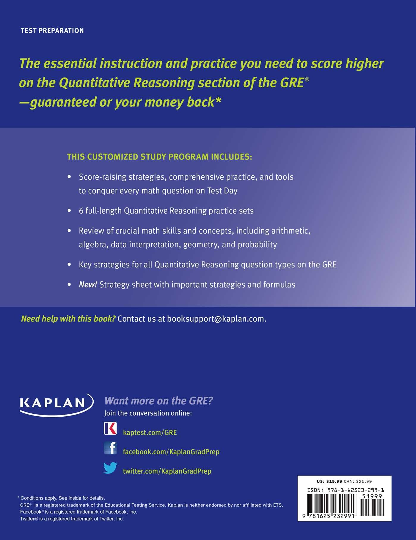 GRE Math Workbook | Book by Kaplan Test Prep | Official Publisher ...
