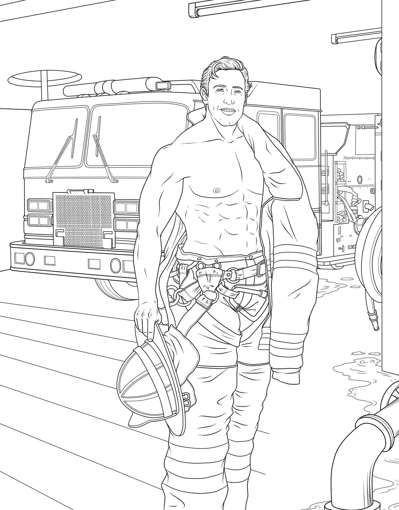 Men In Uniform Adult Coloring Book Book By M G Anthony