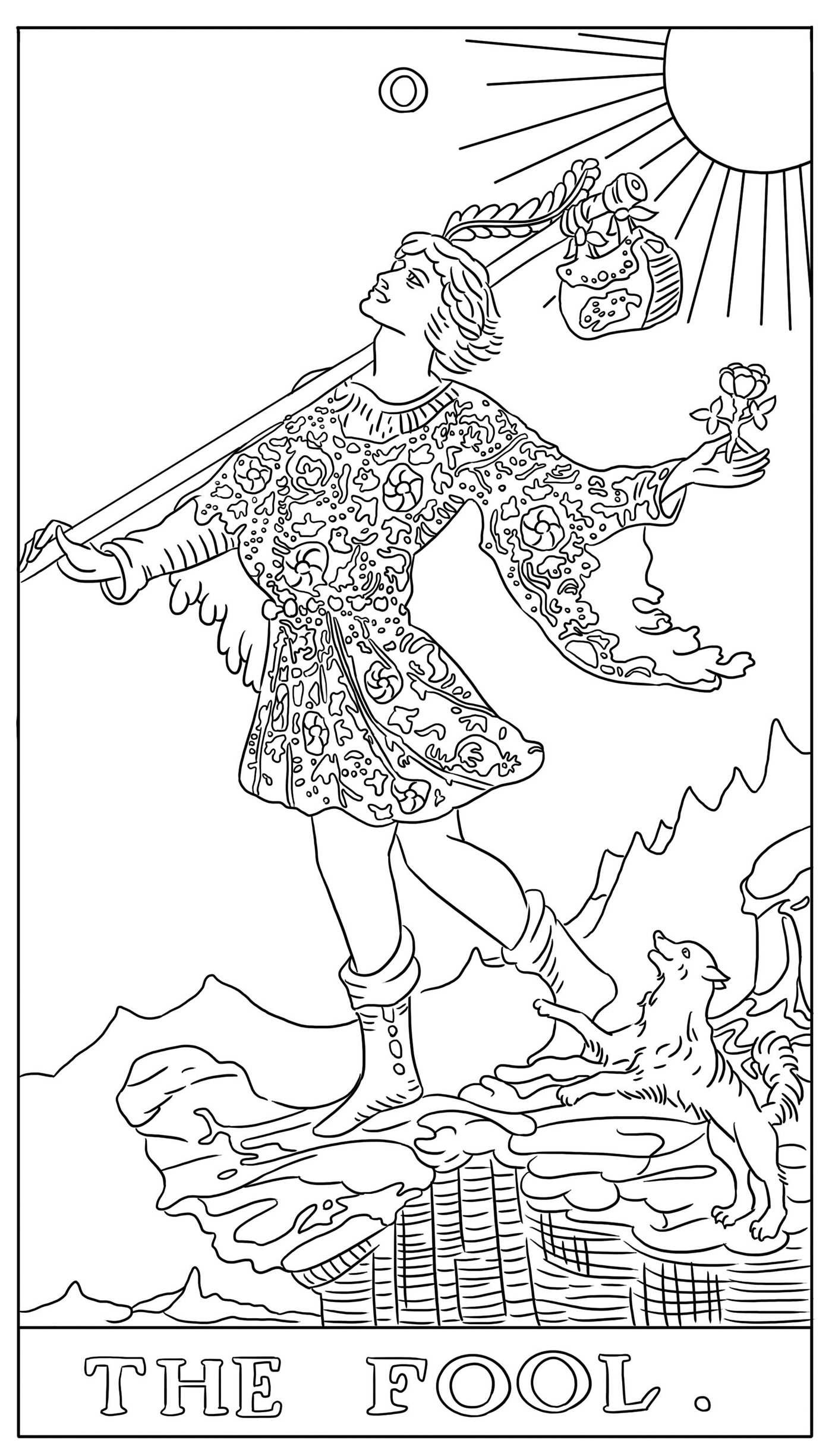 Tarot card coloring pages murderthestout Coloring book note 8