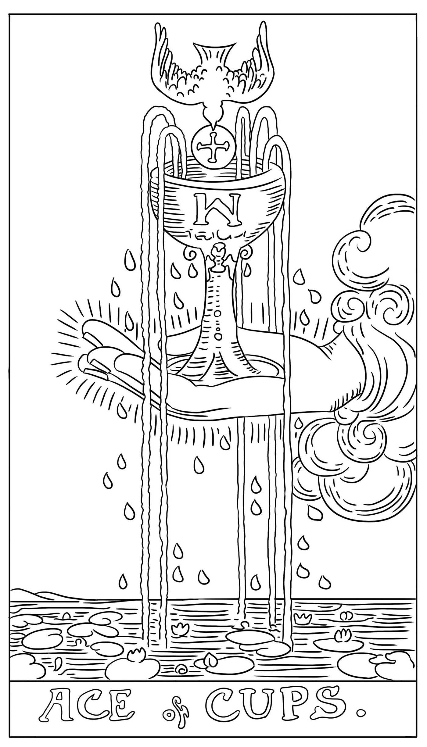 The Tarot Card Adult Coloring Book Book By G C Carter