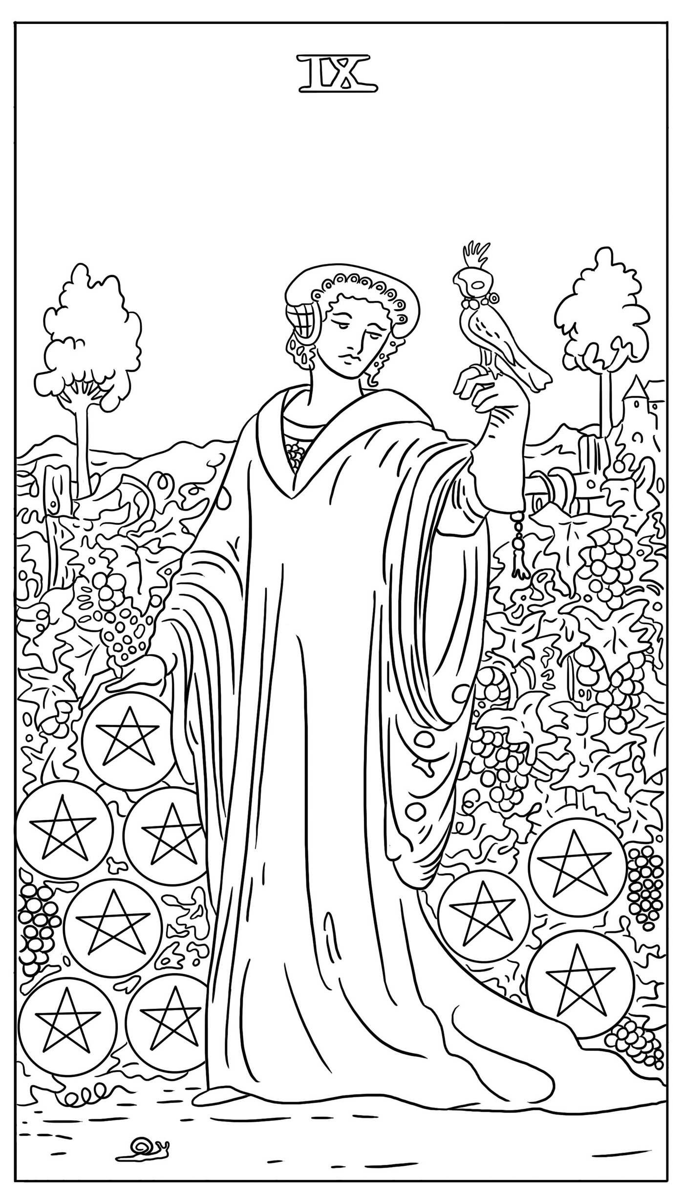 The tarot card adult coloring book 9781682612644.in06