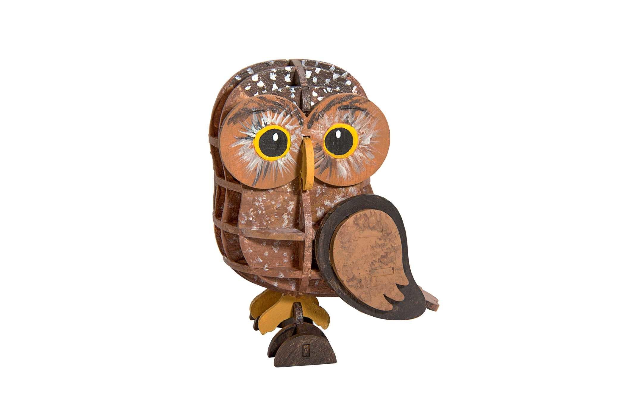 Incredibuilds owl 3d wood model 9781682980408.in01