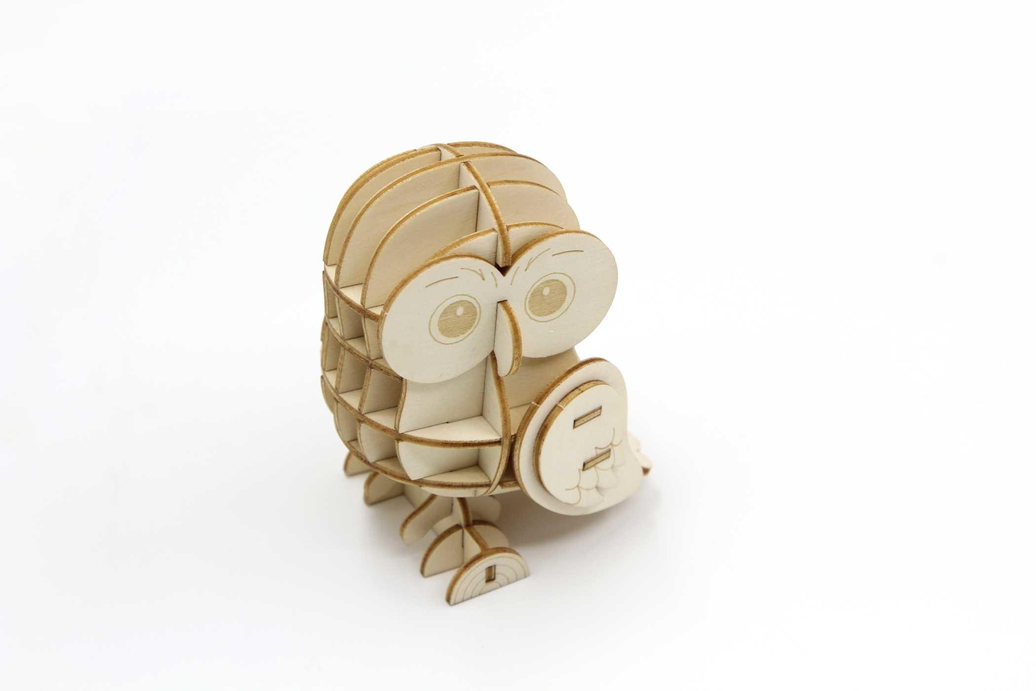 Incredibuilds owl 3d wood model 9781682980408.in02