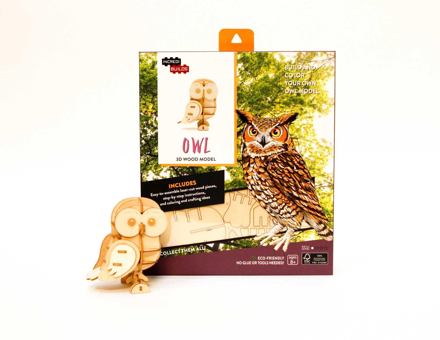Incredibuilds owl 3d wood model 9781682980408.in04