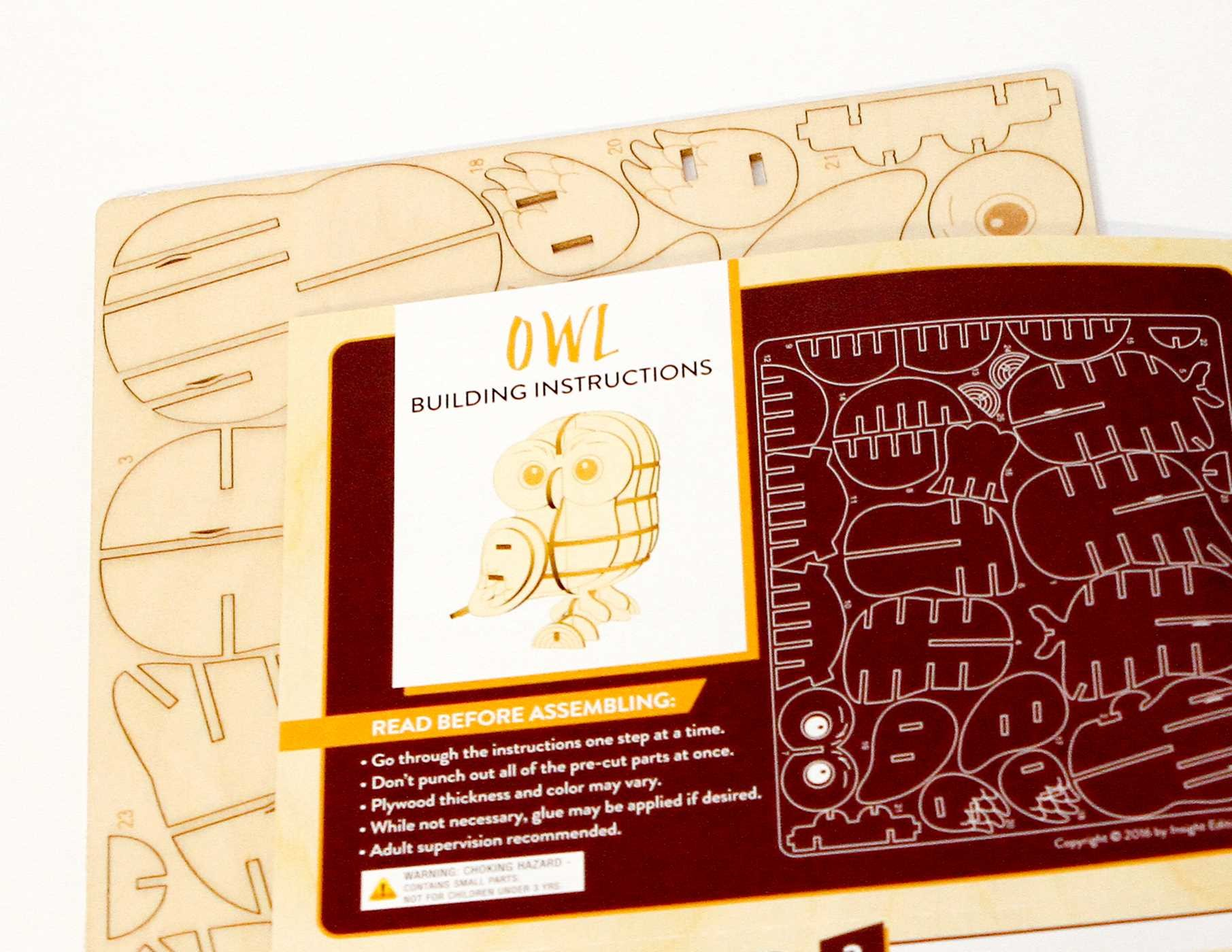 Incredibuilds owl 3d wood model 9781682980408.in06