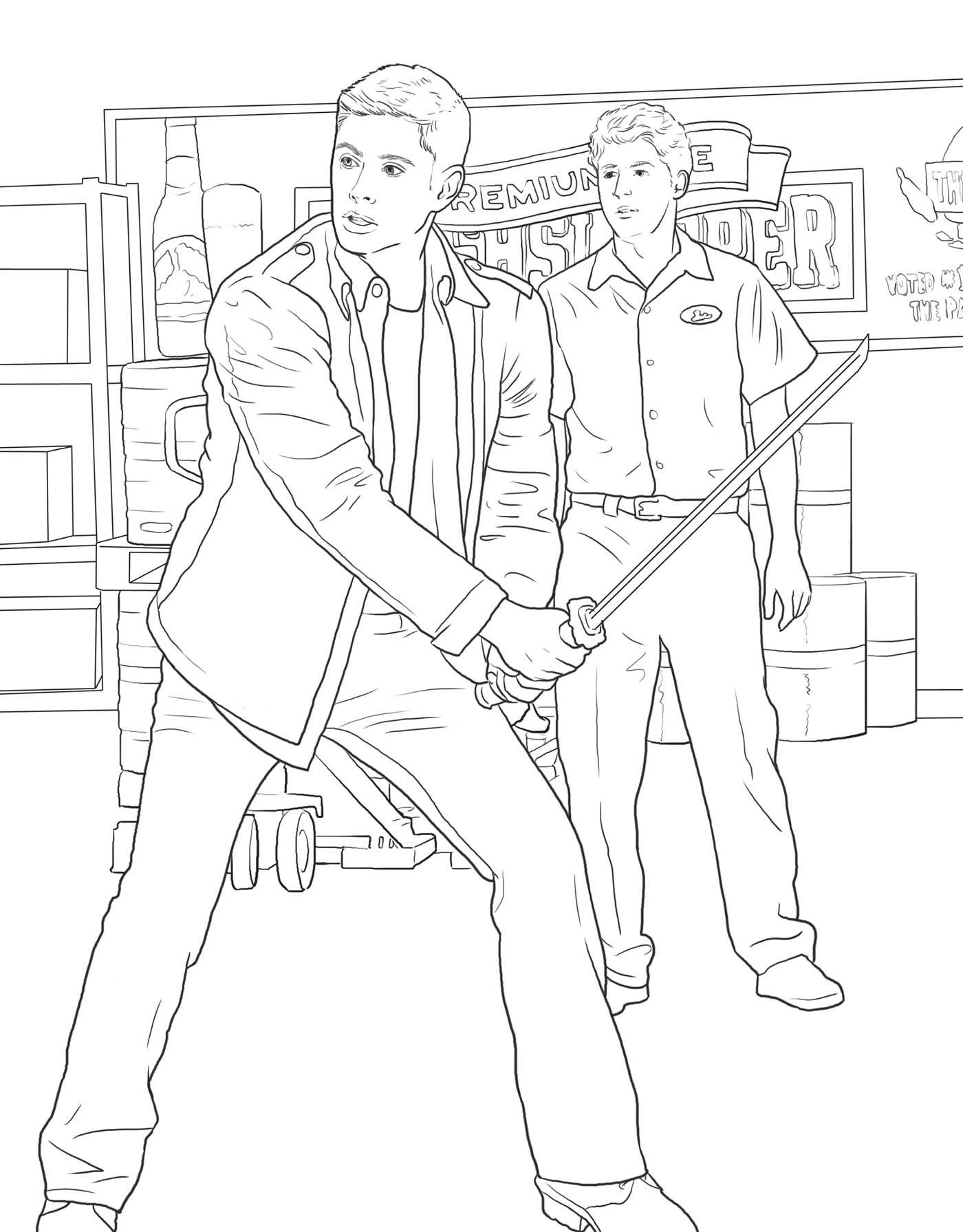 the official supernatural coloring book monsters demons and