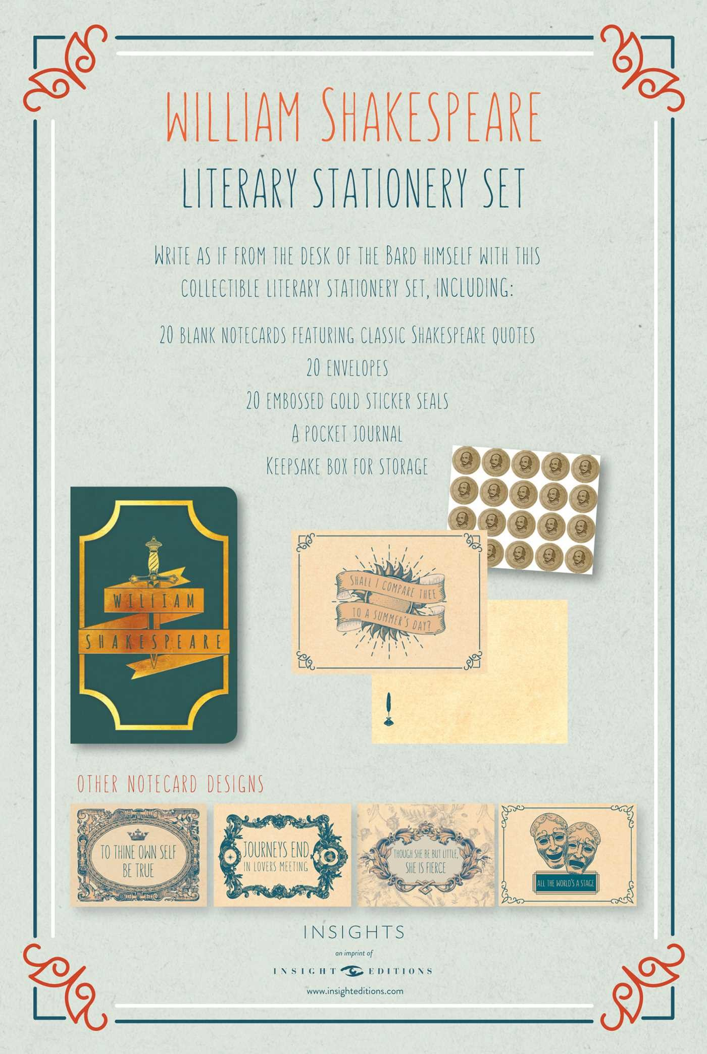 Literary stationery sets william shakespeare 9781683831044.in09