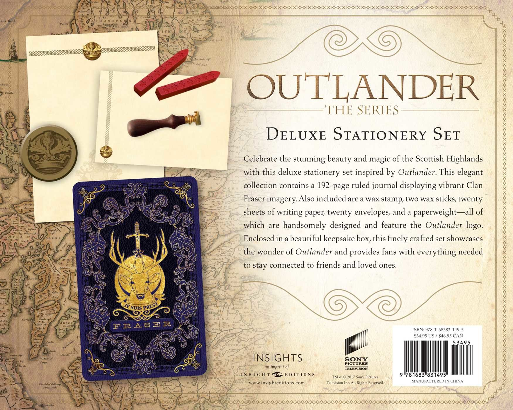 Outlander deluxe stationery set 9781683831495.in03