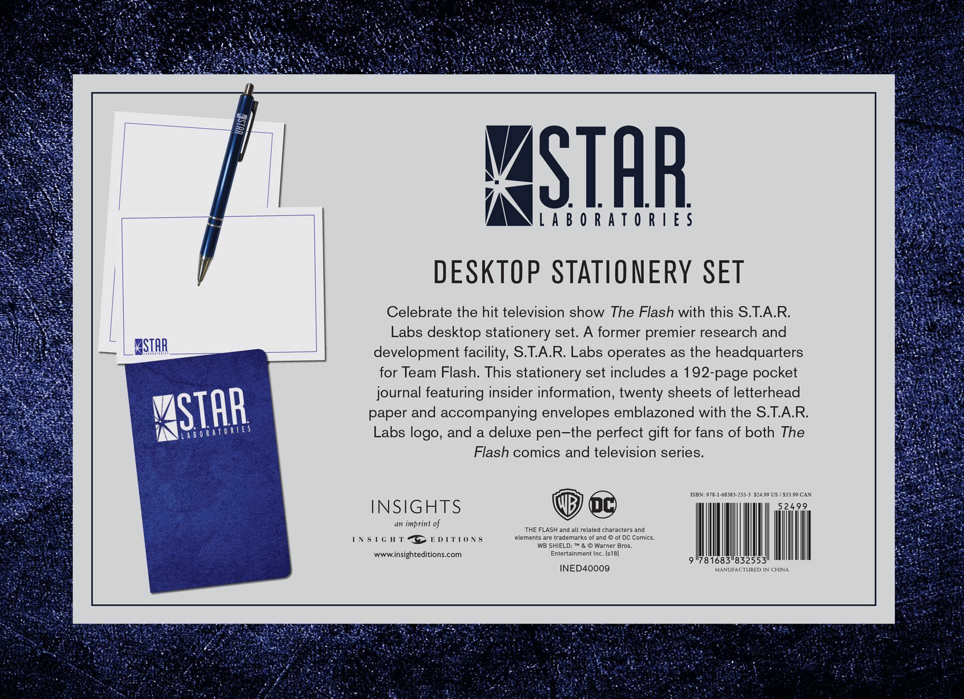 DC Comics: S T A R  Labs Desktop Stationery Set (With Pen) | Book by