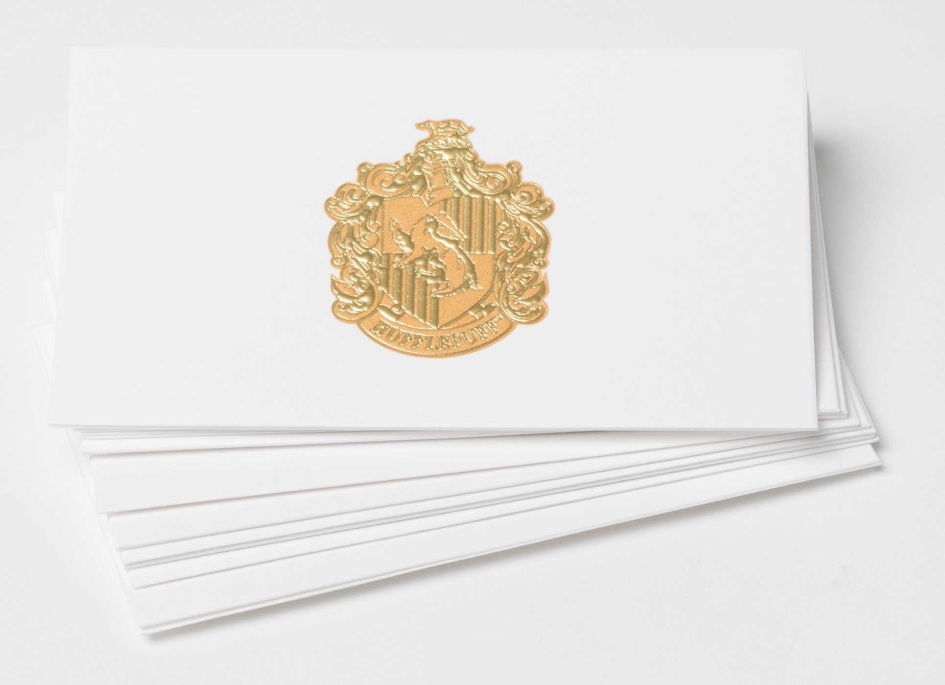 Harry potter hufflepuff crest foil gift enclosure cards set of 10 9781683832560.in01