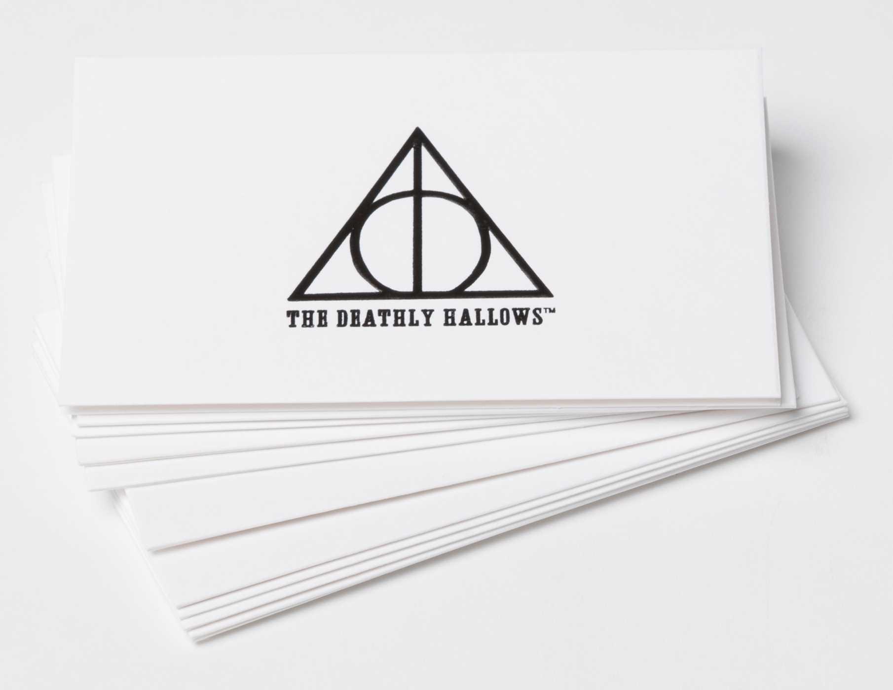 Harry Potter Deathly Hallows Foil Gift Enclosure Cards Set Of 10
