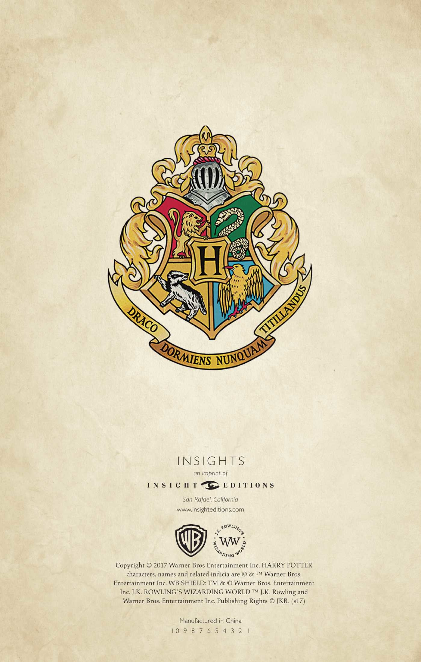 Harry Potter Hogwarts Ruled Notebook Book By Insight Editions
