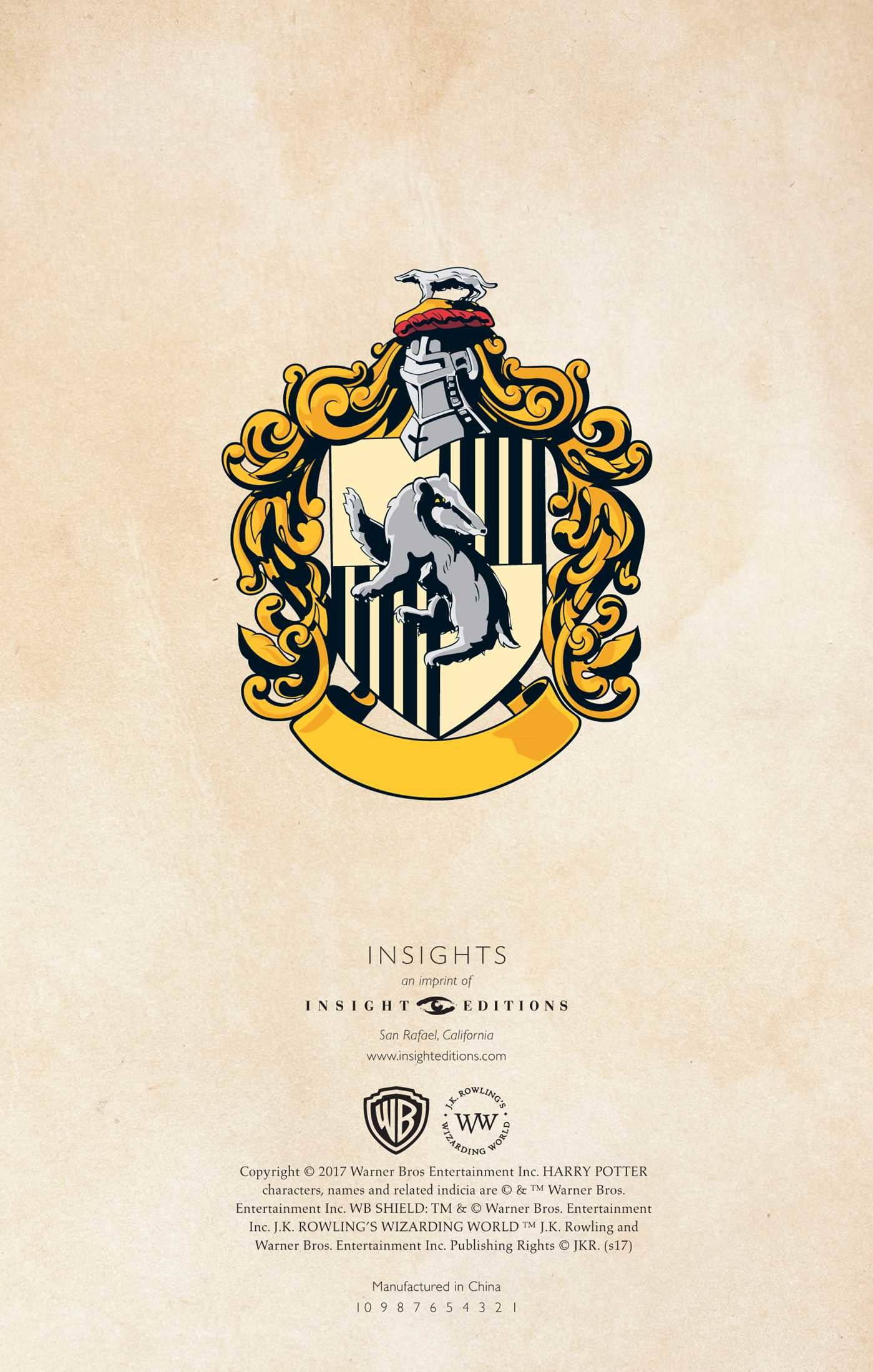 Harry Potter Hufflepuff Ruled Notebook Book By Insight Editions