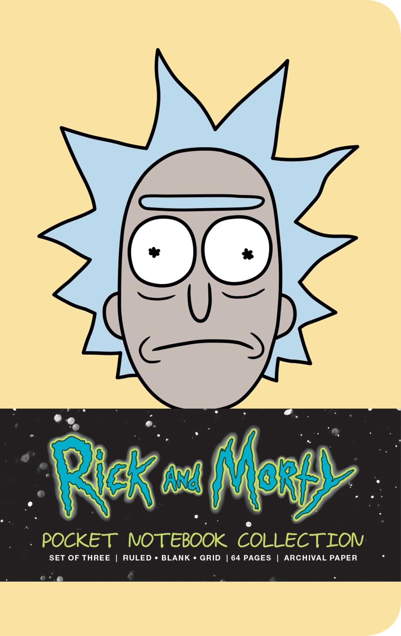 Rick and morty pocket notebook collection set of 3 9781683833079.in01