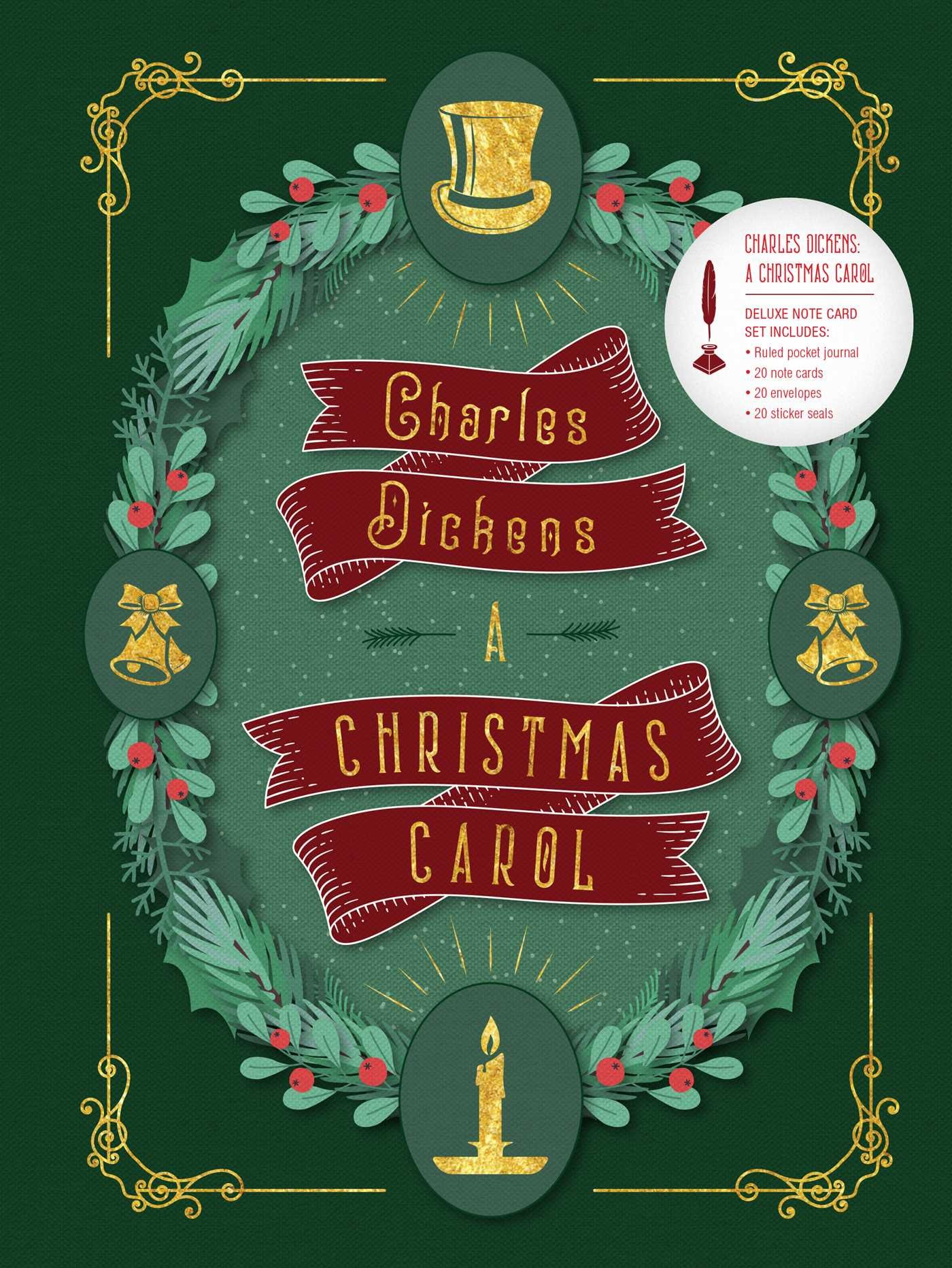 charles dickens a christmas carol deluxe note card set with keepsake book box 9781683833093in01