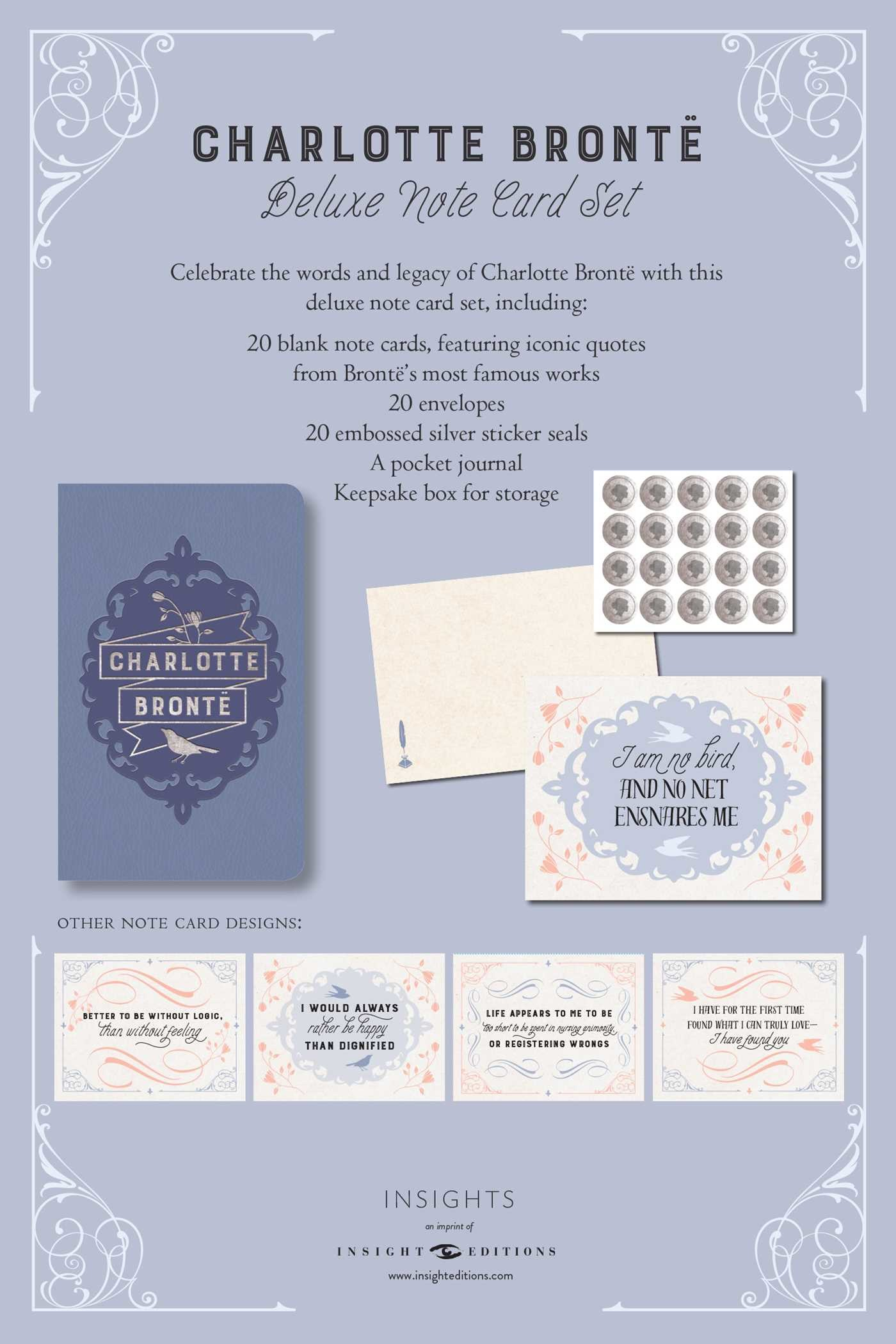 Charlotte bronte deluxe note card set with keepsake book box 9781683833109.in10