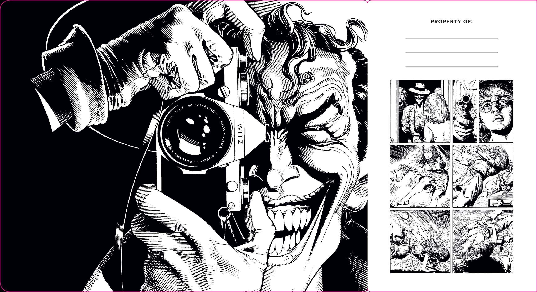 Dc comics the joker hardcover ruled journal artist edition 9781683833307.in01