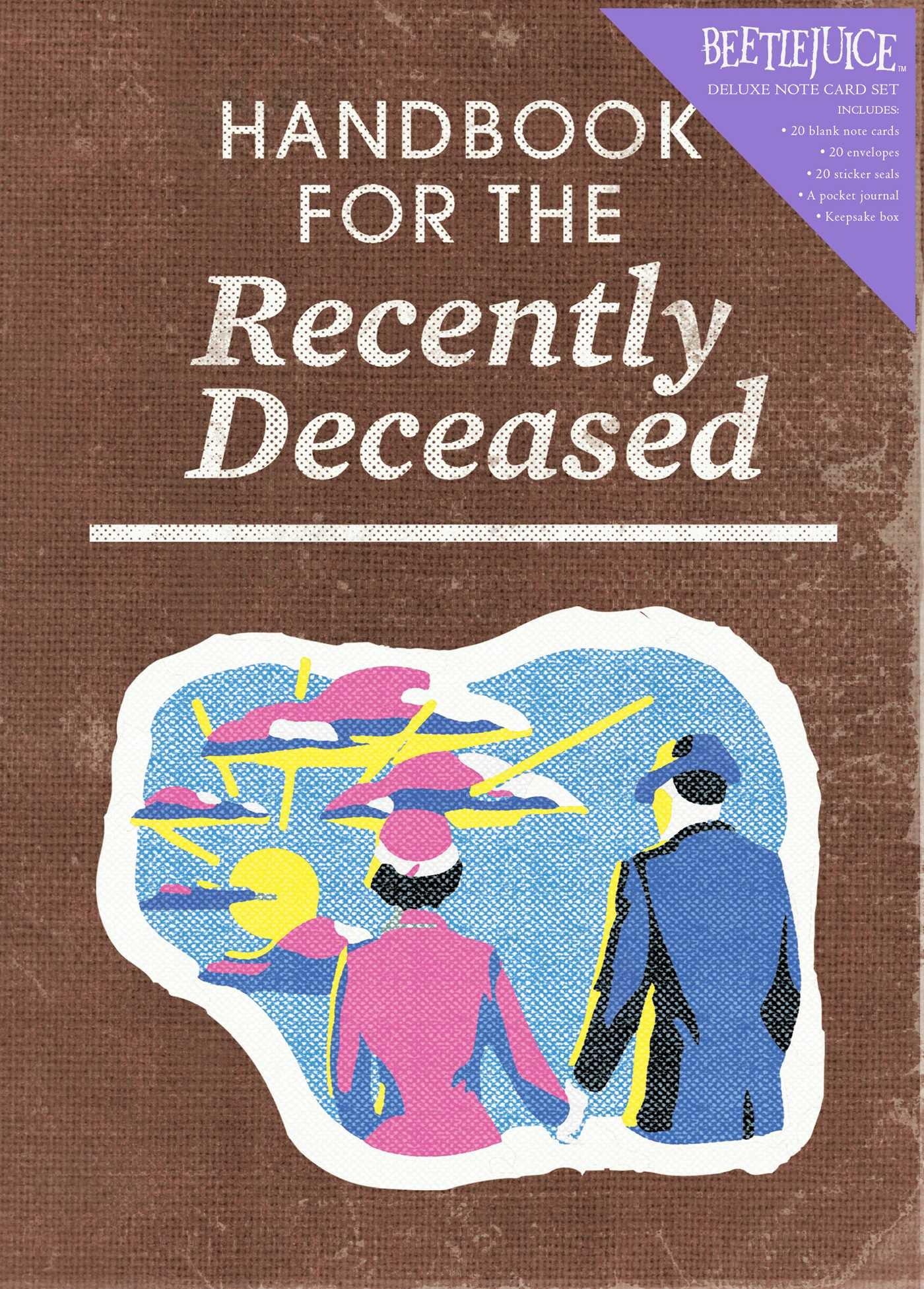 Beetlejuice handbook for the recently deceased deluxe note card set with keepsake book box 9781683833406.in01