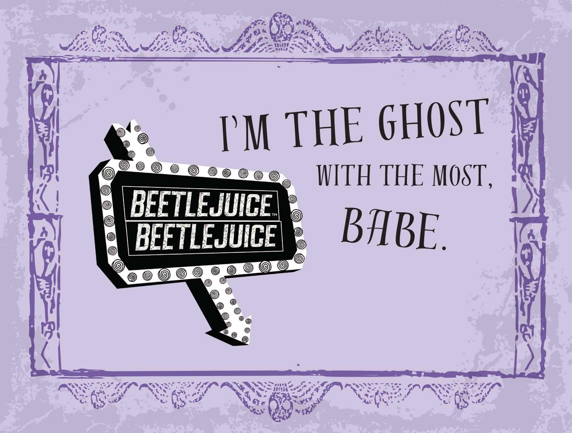 Beetlejuice handbook for the recently deceased deluxe note card set with keepsake book box 9781683833406.in05