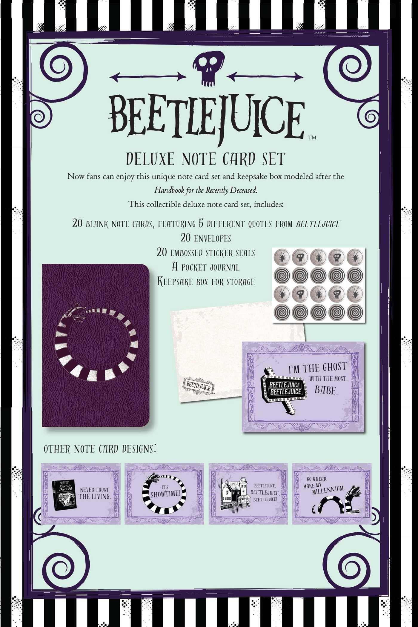 Beetlejuice handbook for the recently deceased deluxe note card set with keepsake book box 9781683833406.in10