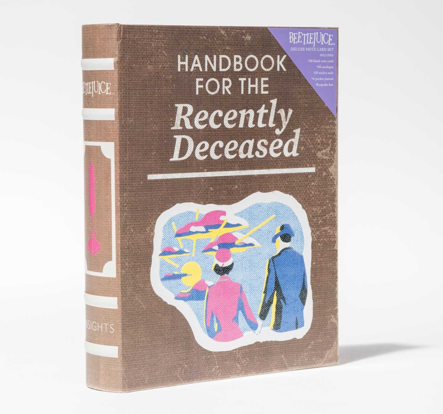 Beetlejuice handbook for the recently deceased deluxe note card set with keepsake book box 9781683833406.in11
