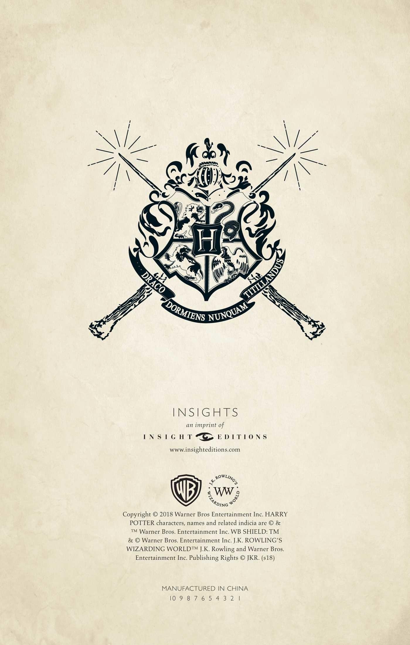 Harry Potter Hogwarts Ruled Pocket Journal Book By Insight