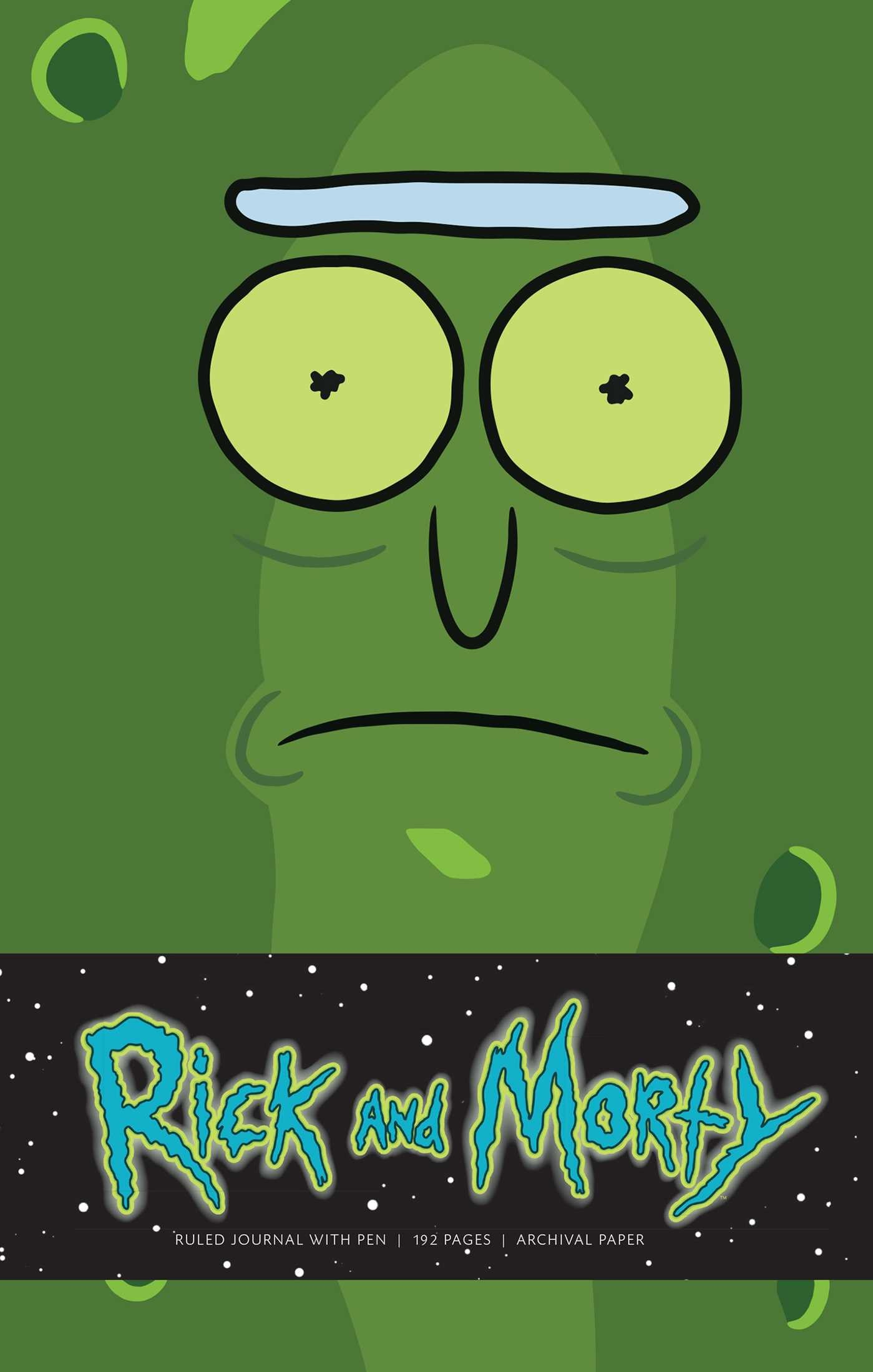 Rick and morty pickle rick hardcover ruled journal with pen 9781683835356.in01