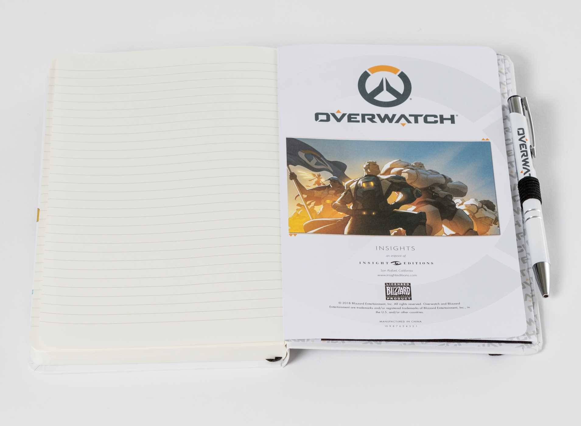 Overwatch hardcover ruled journal with pen 9781683835387.in06
