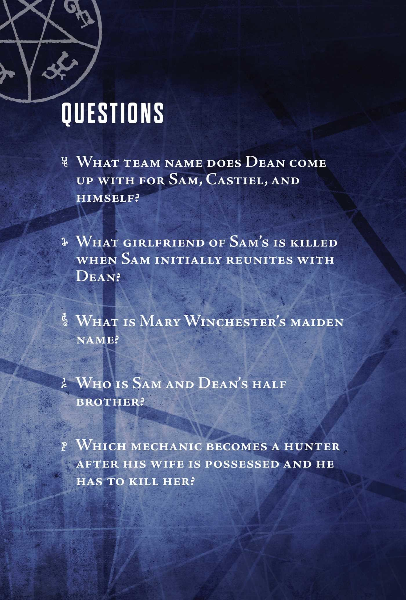 Supernatural Pop Quiz Trivia Deck   Book by Chip Carter
