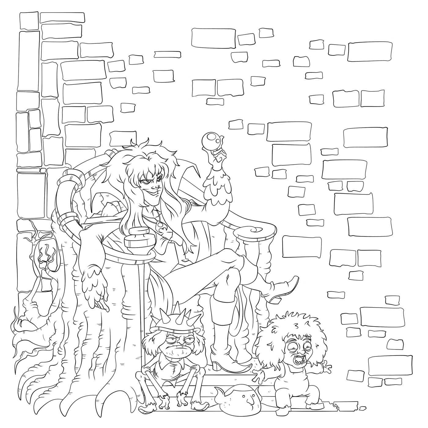 Jim Henson\'s Labyrinth Adult Coloring Book | Book by Jim Henson ...
