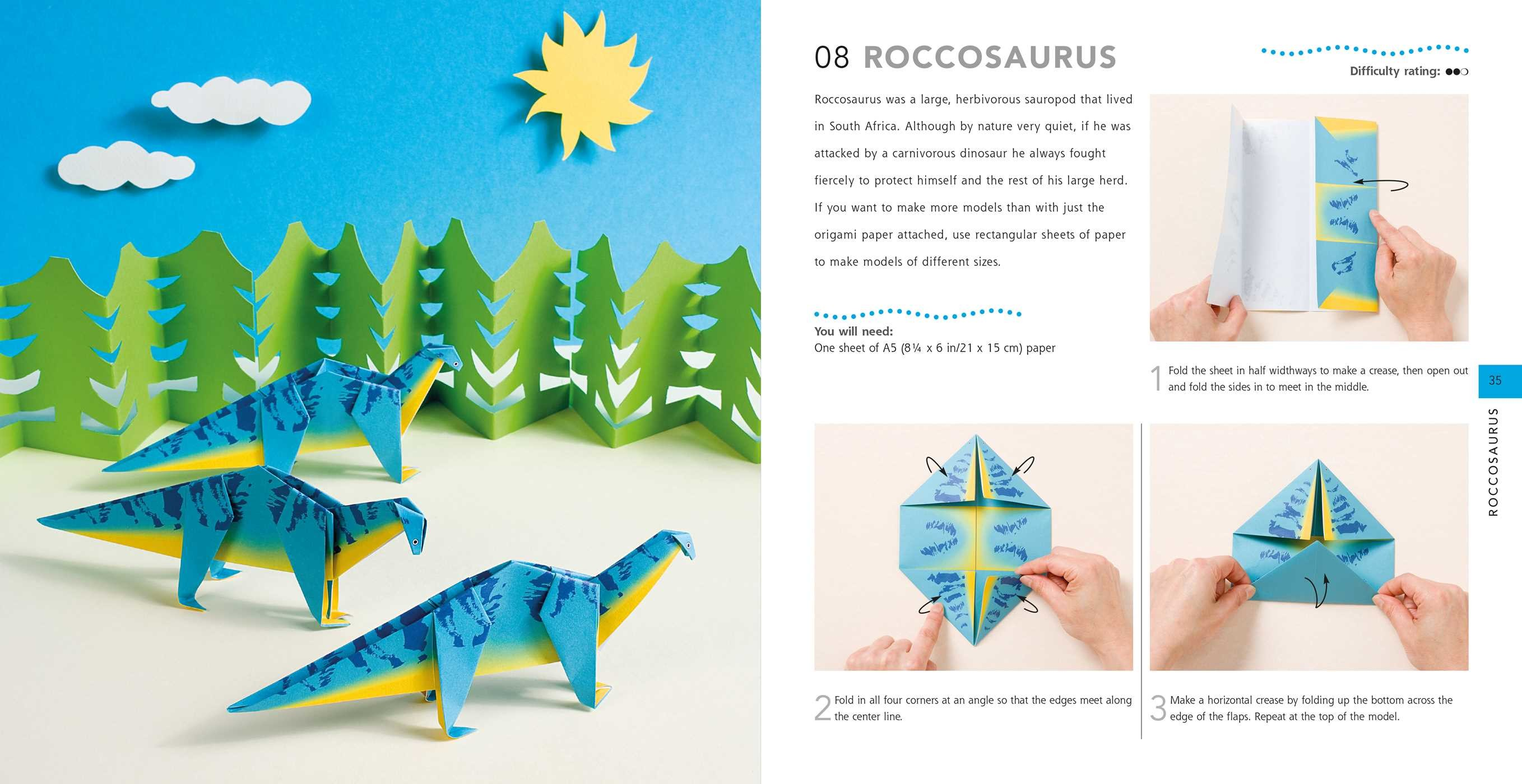 How to make paper dinosaurs 9781782496335.in01