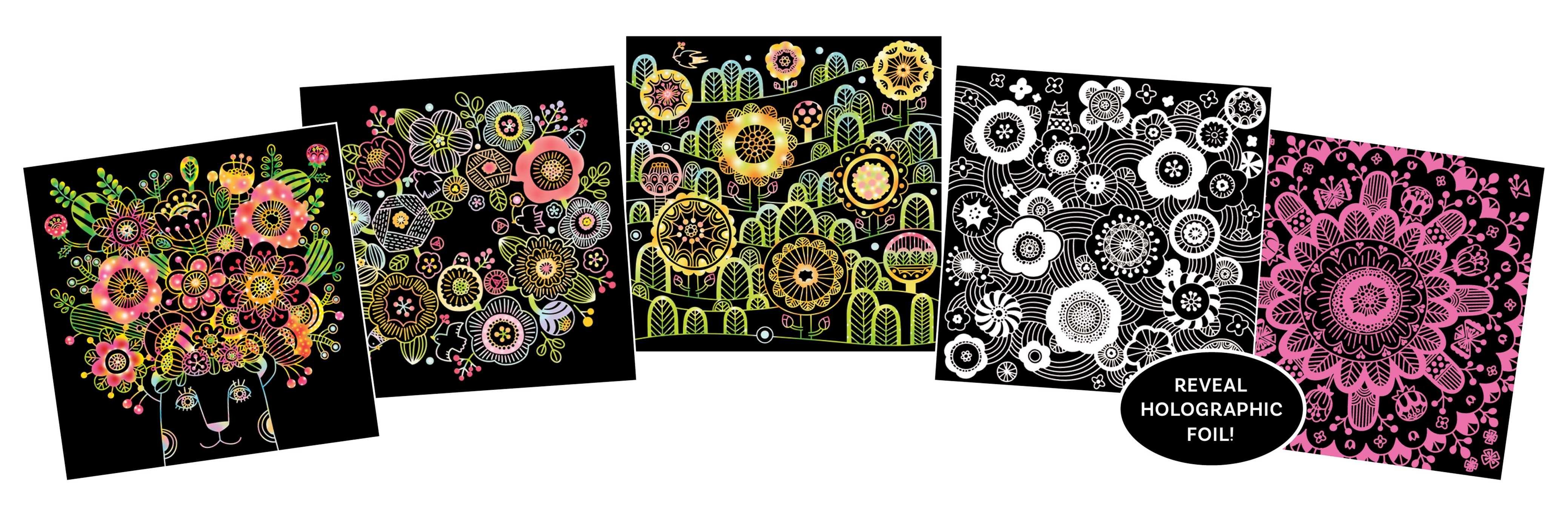 Zen Scratch Art Fabulous Flowers 9784056210750in01