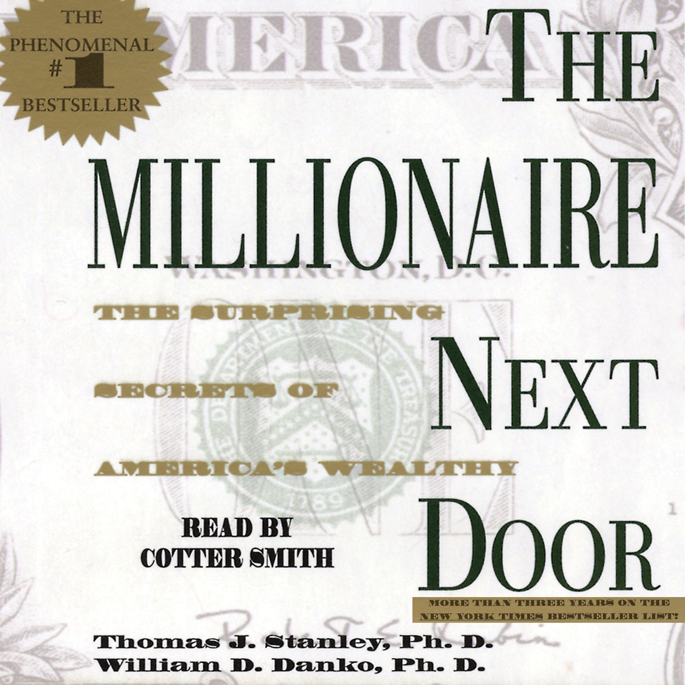 Book Cover Image (jpg): The Millionaire Next Door. Unabridged Audio Download  9780743561273